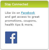 Like Us on Facebook and get access to great promotions, coupons, health tips & more.